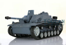US Stock Fast HengLong 1/16 RC Tank German Stug III RTR RC Tank Metal Wheel 3868