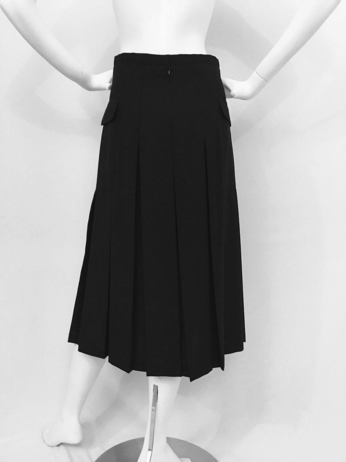 Authentique Nouveau JIL SANDER Plissé A-line laine jupe taille S