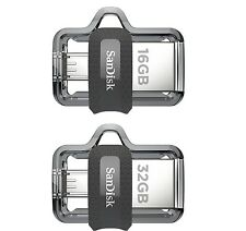 SanDisk Ultra 16GB & 32GB OTG Dual USB 3.0 Pen Drive (NEW MODEL)