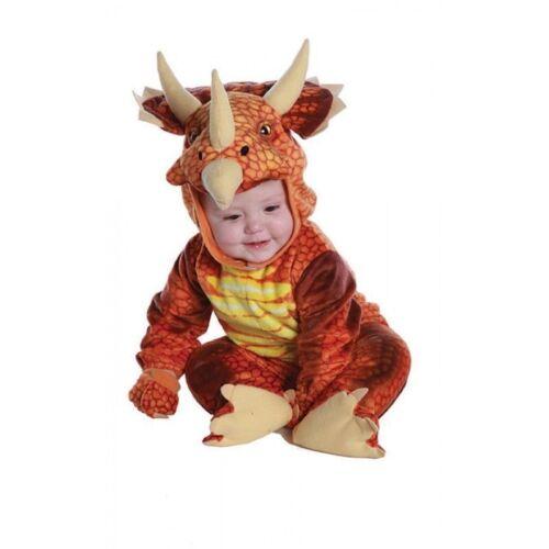 Underwraps Triceratops Rust Dinosaur Infant Toddler Halloween Costume 26031