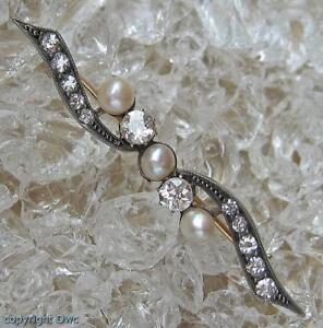 Perlenbrosche-Diamantbrosche-Brosche-mit-Perlen-Perle-Diamant-in-585-Gold
