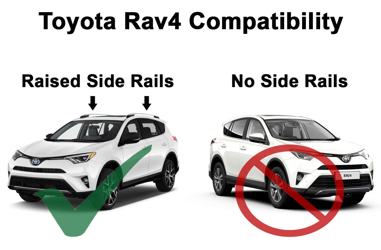 BRIGHTLINES 2013-2018 Toyota Rav4 Cross Bars Roof Racks