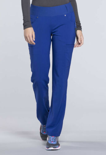 Galaxy Blue Cherokee Scrubs iflex Mid Rise Straight Leg Pull On Pants CK002 GAB