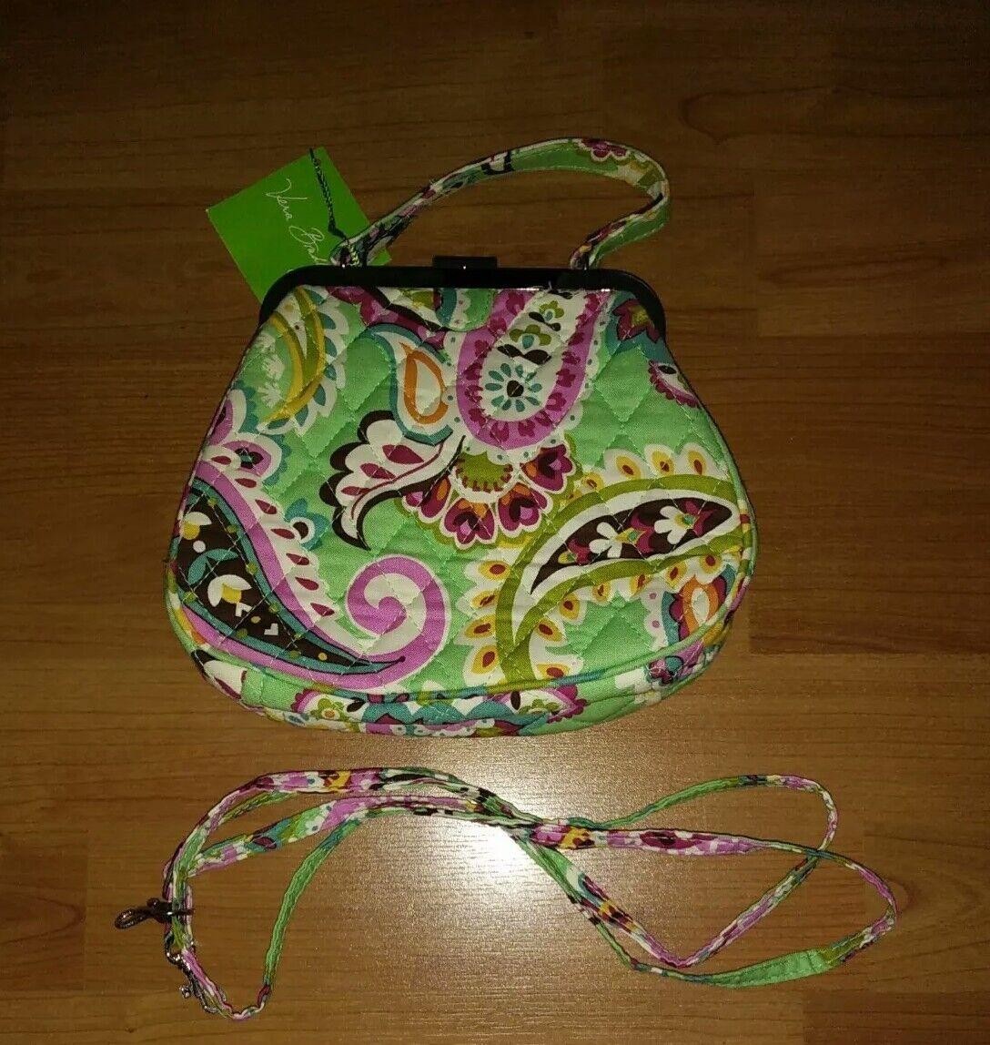 Vera Bradley Mini Frame Clasp Paisley TUTTI Fruitti Crossbody Purse Bag for  sale online  c5224745f3cbd
