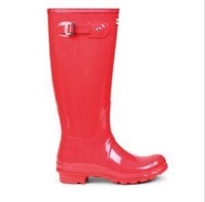 NEW Women's Hunter Original Tall Gloss Rain Boots Wellies ...