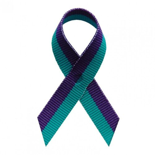 Suicide Fabric Awareness Ribbons 250 Ribbons with Safety Pins