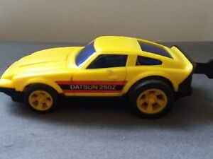 Vintage Blue Box Pull String Toy Car Datsun 280z 1974 Ebay
