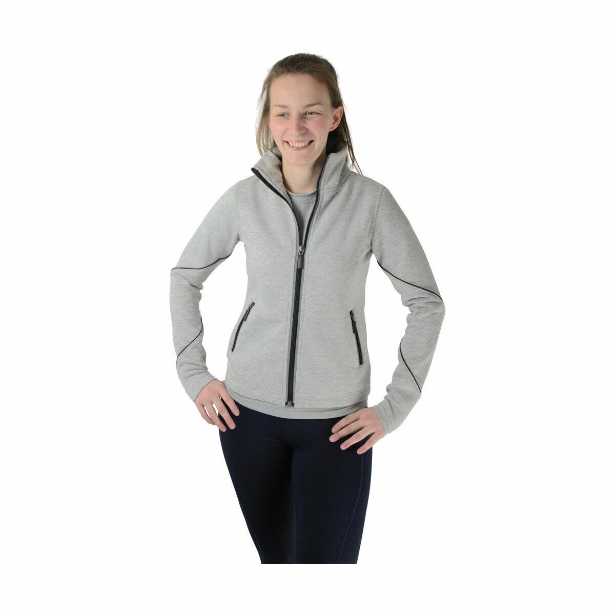 HyFASHION London Edition Sports Fleece Reflective Light Grey Neon Peach XS-XL