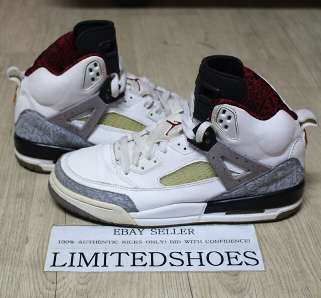 new style b4008 93b72 NIKE AIR JORDAN SPIZIKE WHITE CEMENT GREY RED BLACK 317321-101 US 6.5Y bhm