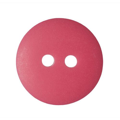 100x Matt Smartie Button 18 lignes//11mm Red Sewing Craft Tool Hobby Art