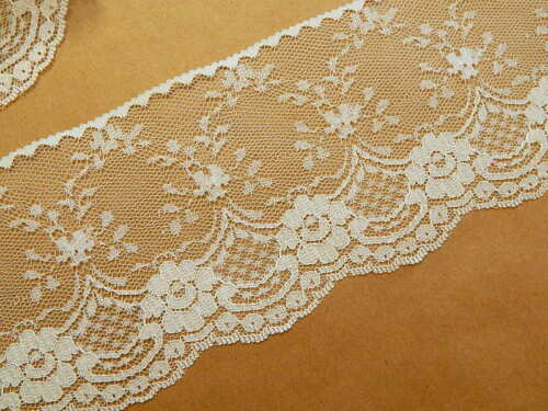 WiDE ~ 3 YDS IVORY LACE TRiM 4 IN 108 in ~ DIY Wedding Decor Runners
