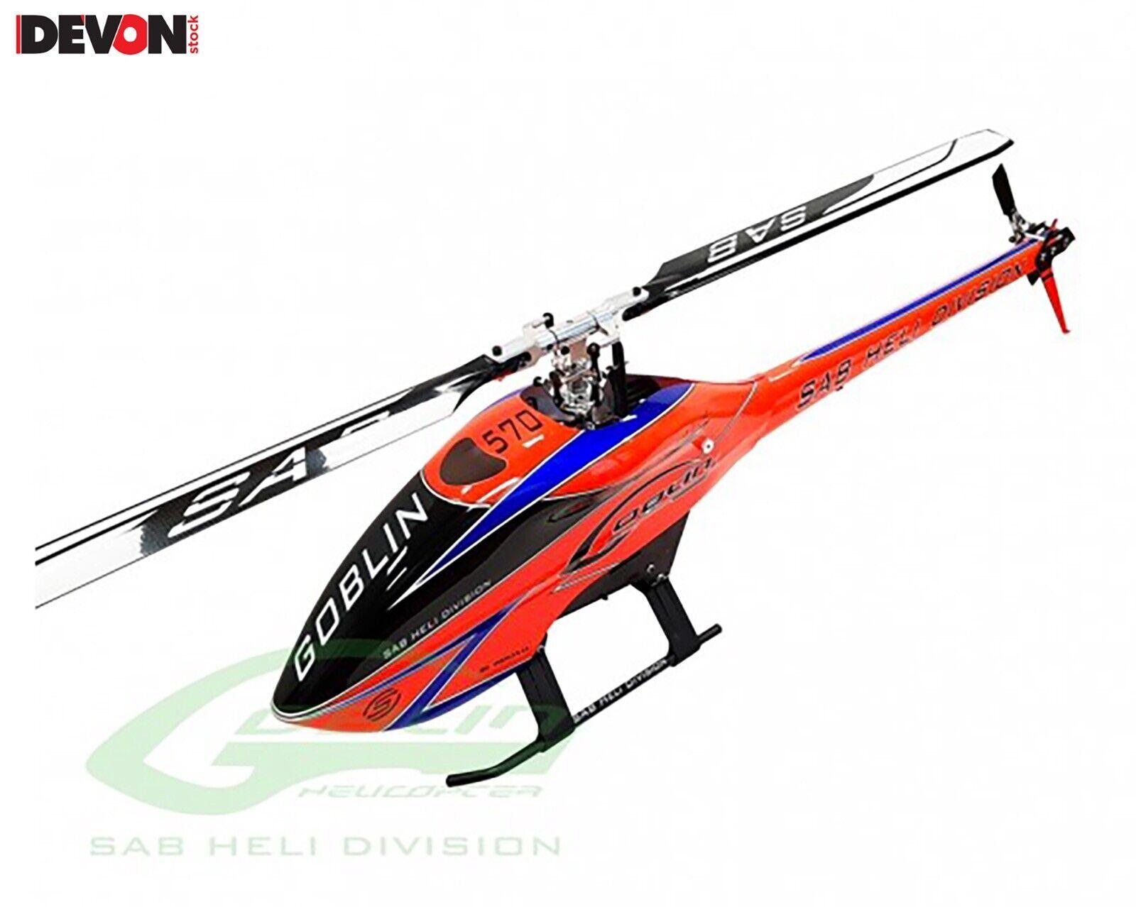 Modelo Helicóptero radiocomanadato RC SAT Goblin 570 Flybarless Helicóptero Eléctrico