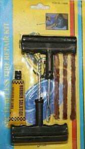 2-Kit-de-reparation-Tubeless-Crevaison-Pneus-Voiture-Moto-Outils-5Meches-inclus