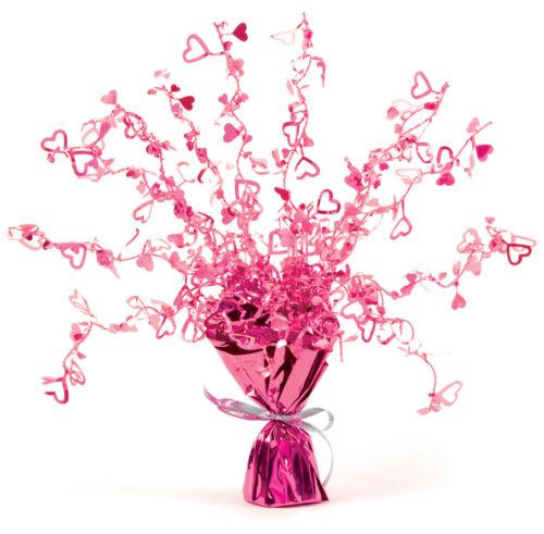 Birthday Wedding Anniversary Decoration Heart Foil Table Cascade Centrepiece