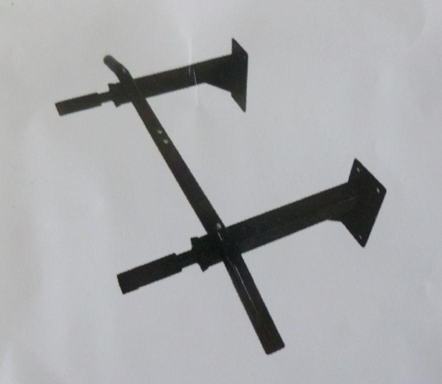 Zugstange-Fixierung Klimmzugstange Wandmontage bis 350 kg schwarz CJ1