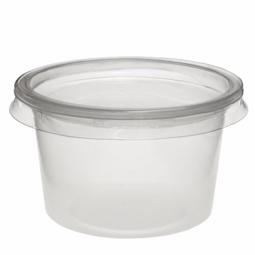Round Contenants De Nourriture en Plastique Transparent Stockage Pots avec couvercles DELI pots Sauce Dip
