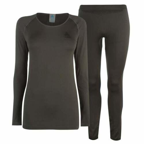 ODLO Femme Sans Couture Set Sous-Vêtement Ensembles Compression Armure Thermal Peaux