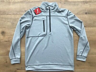 32f5ad0030ed0 2019 Puma Go Low 1/4 Zip Long Sleeve Pullover Quarry Heather SZ M ( 577899  05 ) | eBay