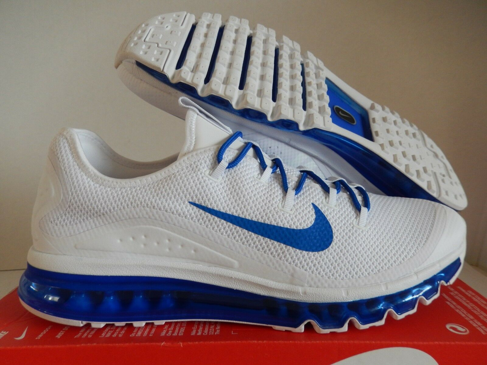 NIKE AIR MAX MORE 2009 2013 2017 WHITE-GAME ROYAL blueE SZ 10 [898013-101]