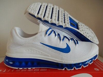 00df597c06 Nike Air Max More 2009 2013 2017 Men Size 11.5 White Game Royal Blue 898013  101