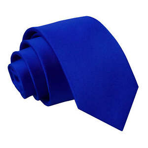 DQT-Satin-Plain-Solide-Bleu-Royal-Kids-enfant-communion-Page-Garcons-Cravate