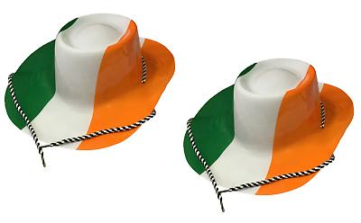 2 X Irisch St.patrick's Day Flag Farben Cowboy Cowgirl Verkleidung Kostümparty Ideales Geschenk FüR Alle Gelegenheiten