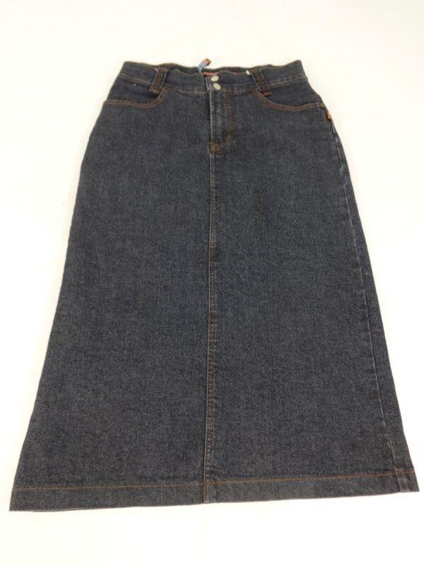 Effizient Nu Shan Ba Damen Blau Dunkle Waschung Jeans Rock Größe 28 Super Süß SchöNer Auftritt