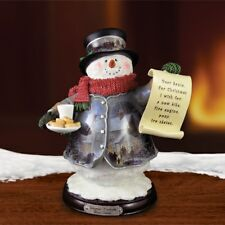 Thomas Kinkade Figurine - Dear Santa Snowman New Item 1513888015 COA