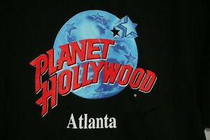 Vintage-90s-Planet-Hollywood-Atlanta-Graphic-Tee-Shirt-Large-XL-Made-in-USA