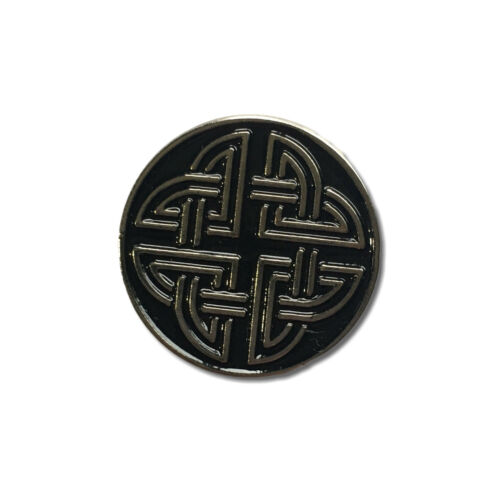 Celtic Knot Simple Quality Metal /& Enamel Pin Badge with Secure Locking Back