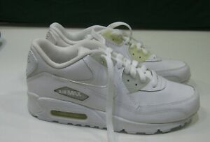 Nike Air Max 90 307793 111 leather White youth Size 5 women size 6.5