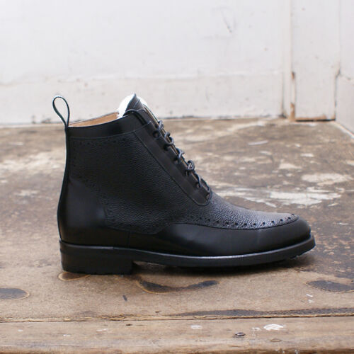 Oxford Taglia 7 Freud Mens 645 Black Rrp Boots New £ Mr Closing Genuine Hare OIwx7