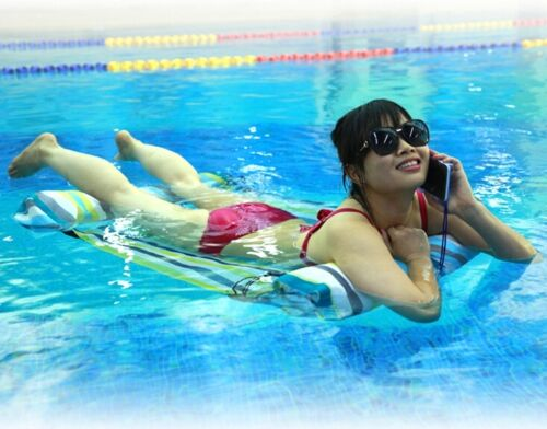 AIR PUMP Swimming Pool Water FLOATING HAMMOCK Lounge Chair Float Inflatable Bed