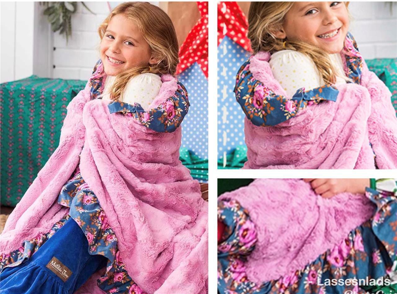 Matilda Jane m'envelopper Couverture Peluche Minky Rose XL 64 x 64 Throw nouveau