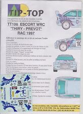 FORD ESCORT WRC THIRY RAC 1997 CB COM 1/43 SCALE DECALS NO MODEL CAR