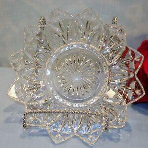 Vintage 50s Glassware Federal Petal Crystal Dessert Bowl, 5 3/4 inch