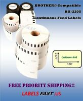 Continuous Labels Compatible W/ Brother® - 1-200 Rolls Dk-2205 - Lowest Prices