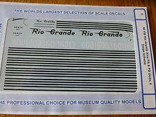 Microscale Decal O #48-100 Denver & Rio Grande Western (DRGW) -- Alco PA or PB D