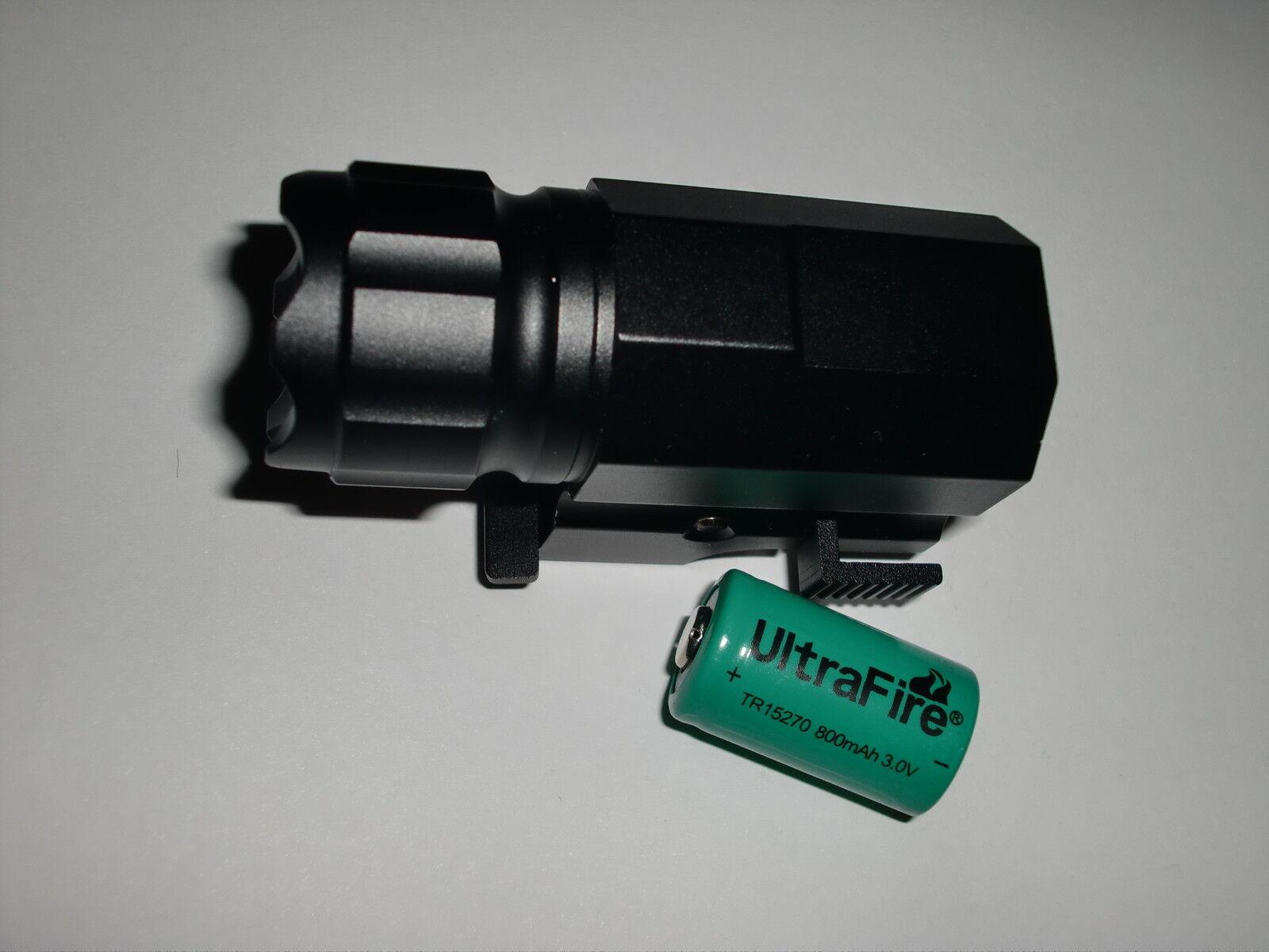 COMUNITE G03 600LM Tactical CREE LED Gun Light CR2 Rail Mount Pistol Flashlight