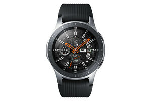 Samsung Galaxy Watch SM-R800 46mm Silver Case Classic Buckle Onyx Black - New