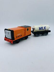 Trackmaster Motorized Thomas & Friends Train Rusty W/ Milk Tanker