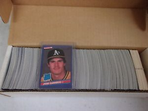 1986 Donruss Baseball Card Complete Set 1 660 W Jose