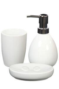 Conjunto accesorios cuarto de baño cerámica Blanco Distribuidor ...