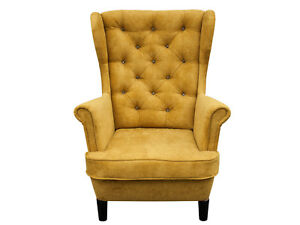 Ohrensessel sessel ohrenbacken polstersessel kaminsessel skandinavisch giallo 14 ebay - Sessel skandinavisch ...