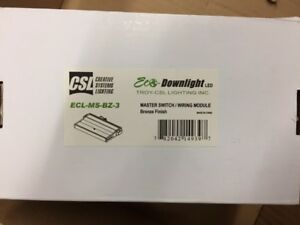 Details About 2 Csl Creative Systems Lighting Ecl Ms Bz 3 Led Undercabinet Light Master Switch