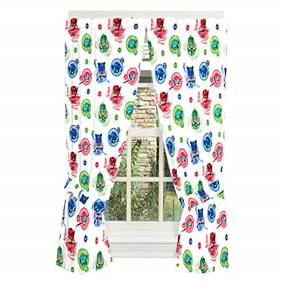 Franco Kids Room Window Curtain Panels With Tie Backs