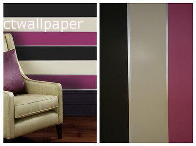 Olivia II Pink Black Cream Grey Stripe Wallpaper 6165
