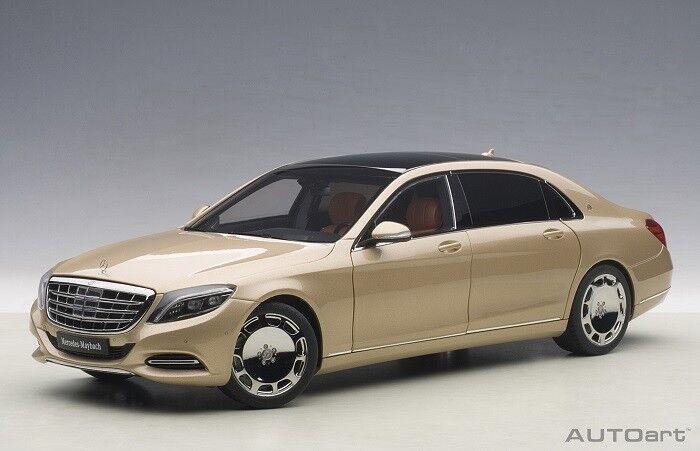 bilkonst 76294 –1  18 Mercedes Maybach S -Klasse S600 (Swb) -Champange guld -2015