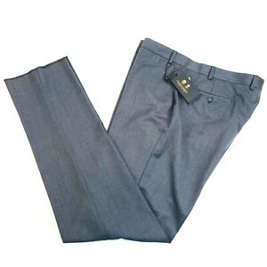 Austin Reed Atrafalgar Wool Flat Front Dress Pants Slack Grey Men 40x Unfinished Ebay