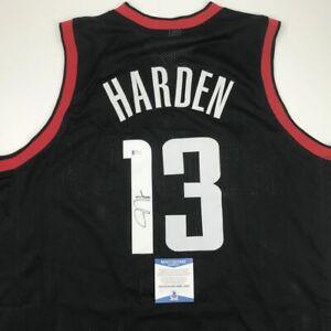 premium selection 58479 20680 Details about Autographed/Signed JAMES HARDEN Houston Black Basketball  Jersey Beckett BAS COA